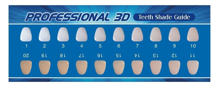 Canny image with tooth shade chart printable