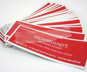 You can even buy Rembrandt Whitening Strips in Wallmart